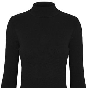 Cielo Solid Stretch Mock Neck Pullover Knit